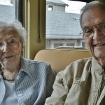 Residents Ralph Ireland and Louise Humphreys reminisced about their time spent riding the rail in these kind of cars during World War II. It brings back a lot of memories, they both said.