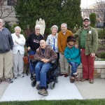(Left-to-Right): Donn Blystone, Bonnie Thompson, Doe Cook, Paul Rowland, Ruby James, Bob Whalen, Yoko Rowland, and Me (Jason Barrett). We enjoyed our time out in the courtyard garden admiring the peaceful serenity of this place.
