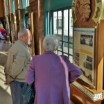 Ralph Ireland (Left) and Louise Humphreys (Right) discuss the history of the springs. Ralph elaborated on our historical experience of Excelsior Springs through stories of his time there in the 1940's.