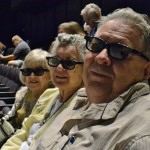 Residents Bill Fann, Beverly Fann, and Dorothy Frederick look pretty incognito in their 3D glasses.