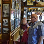 Driver Donn Blystone with daughter Madison talk with Resident Ralph Ireland about the wealth of sports history contained within the walls of Chappell's Restaurant. What a delight for two sports fans to experience!