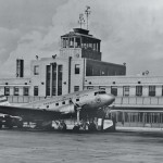 A picture of the TWA flight terminal in Kansas City circa 1940's.