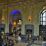 A beautiful picture from the mezzanine overlooking the lobby and the grand hall.