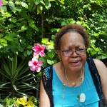 Resident Audrey Wells enjoyed the tropical plants in the rainforest enclosure!
