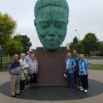 The Residents gathered around the Charlie Bird Parker statue memorial to check off scavenger hunt item #1, which is a symbol of the thriving jazz scene that emerged from Kansas City in the 1920's and still thriving today!