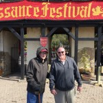 Richard and Donn pose for a picture at the main entrance to the Renaissance Festival.