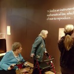 Dorothy Frederick and Pat Hensel enjoyed reading the wall descriptions on each of da Vinci's mechanical devices. It was interesting to learn how it all worked!