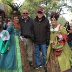 Richard and Donn got to participate in the parade at the Renaissance Festival...they were plucked from the crowd by some rowdy gals! :)