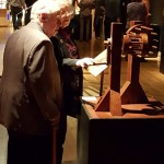 Roland Blackmarr and wife enjoyed working through some of the interactive models that were in the exhibit.