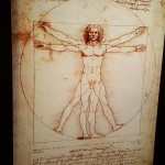 Da Vinci's ever popular Vitruvian man. This lead to a breakthrough for da Vinci and how the proportions of the human body were created.