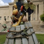 The sculptures looked great on the lawn of the Nelson-Atkins.