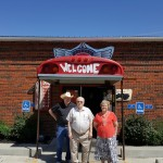 The group posed for a picture outside the Little BBQ Joint. As you can tell from the picture the owner's have a great sense of humor...the