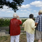 The residents got to reminisce about their youth going to the point to watch airplanes go in and out of the Charles B. Wheeler downtown airport. Good memories!