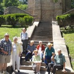The gang gather's for a picture at the footstep of the William Rockhill Nelson Memorial Chapel.