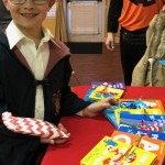 Our young Harry Potter was ready to get his new Dr. Seuss book.