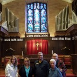 We got a special tour of the church sanctuary too!
