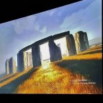 Our live screen of Stonehenge showed us what Gordon saw as he was there.