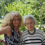 (Left-to-Right): Marianne Schrik and Alice Shelor are enjoying a day out in the sun at Burr Oak Woods.