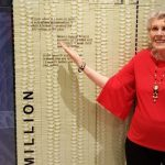 Jennie Woolworth poses next to $40 million bucks!