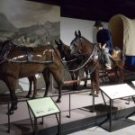 Wagon and horses were the means for transportation of soldiers, food, supplies, and equipment in the early times of the fort.