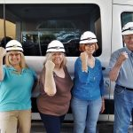 (Left-to-Right): Deanna Bates, Rhonda Holler, Karol Swain, Pat Taylor, and Richard Brown pose at the beginning of the trip to show their grit!