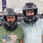 Ron and Harold get suited up to race!